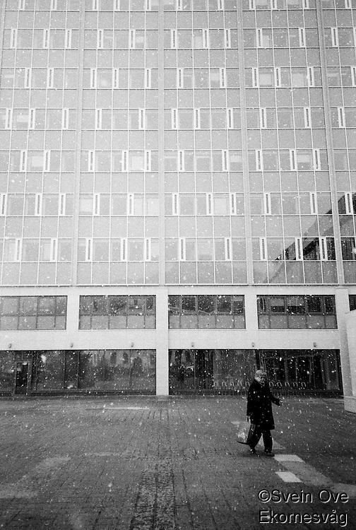 Snøbyge.<br /> Foto: Svein Ove Ekornesvåg