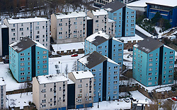 View of  apartment blocks at Dumbiedykes in Edinburgh, Scotland, UK