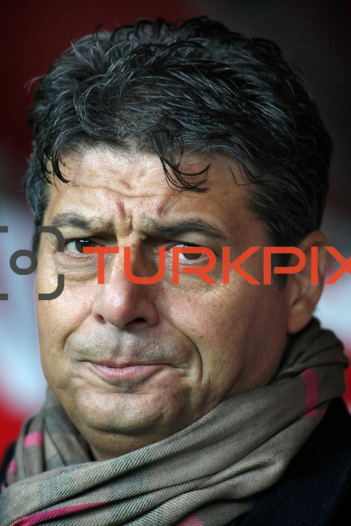 AdanaDemirspor's coach Durmus Ali Colak during their Turkey Cup matchday 3 soccer match Galatasaray between AdanaDemirspor at the Turk Telekom Arena at Aslantepe in Istanbul Turkey on Tuesday 10 January 2012. Photo by TURKPIX
