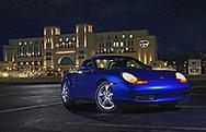 Porsche Boxster at Bill Snyder Family Stadium.