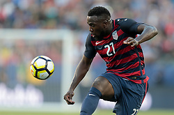 July 26, 2017 - Santa Clara, CA, USA - Santa Clara, CA - Wednesday July 26, 2017: Jozy Altidore celebrates his goal during the 2017 Gold Cup Final Championship match between the men's national teams of the United States (USA) and Jamaica (JAM) at Levi's Stadium. (Credit Image: © John Dorton/ISIPhotos via ZUMA Wire)