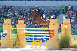 Geir Gulliksen, (NOR), Edesa S Banjan - First Round Team Competition Jumping Speed - Alltech FEI World Equestrian Games™ 2014 - Normandy, France.<br /> © Hippo Foto Team - Leanjo De Koster<br /> 03-09-14