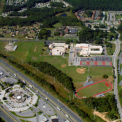 Aerial photograph of AI Dupont High School
