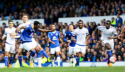 Everton's Romelu Lukaku fires a shot at goal  - Mandatory byline: Matt McNulty/JMP - 07966386802 - 12/09/2015 - FOOTBALL - Goodison Park -Everton,England - Everton v Chelsea - Barclays Premier League
