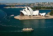 Sydney Harbour Bridge and Ferry. Sydney, Australia