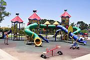 Israel, Negev desert, Omer, empty Playground