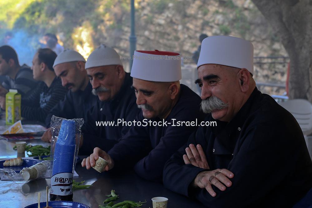 Men outdoors in Druze Village, Galilee, Israel