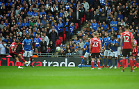 Football - 2019 EFL Checkatrade Trophy Final - Sunderland vs. Portsmouth<br /> <br /> Aiden McGeady of Sunderland scores his first half goal from a free kick, at Wembley.<br /> <br /> COLORSPORT/ANDREW COWIE