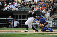 CHICAGO - JULY 11:  Andruw Jones #25 of the Chicago White Sox bats against the Kansas City Royals on July 11, 2010 at U.S. Cellular Field in Chicago, Illinois.  The White Sox defeated the Royals 15-5.  (Photo by Ron Vesely) Images)  *** Local Caption *** Andruw Jones