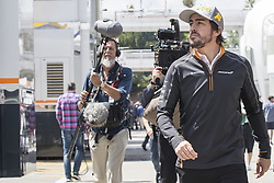May 13, 2018 - Barcelona, Spain - McLaren driver Fernando Alonso (14) of Spain before the F1 Grand Prix celebrated at Circuit of Barcelona 13th May 2018 in Barcelona, Spain. (Credit: Urbanandsport / NurPhoto) (Credit Image: © Urbanandsport/NurPhoto via ZUMA Press)
