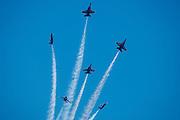 The Blue Angels Fleur-de-lis at the Airshow of the Cascades.