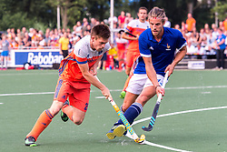 (L-R) Thierry Brinkman of The Netherlands, Nicolas Dumont of France during the Champions Trophy match between the Netherlands and France on the fields of G.H.C. Rapid on June 15th, 2018 in Gorinchem, The Netherlands.