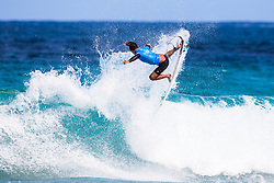 Barron Mamiya of Hawaii bows out of competition after placing Second in Heat 3 of The Quarter Finals at the Jeep World Junior Championship Kiama, NSW, Australia.