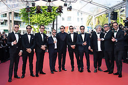 Jean-Eric Vergne, Orlando Bloom, Leonardo DiCaprio, Alejandro Agag, Andre Lotterer, Sam Bird, Malcolm Venville and Nelson Piquet Jr. attending the Il Traditore Premiere as part of the 72nd Cannes International Film Festival in Cannes, France on May 23, 2019. Photo by Aurore Marechal/ABACAPRESS.COM