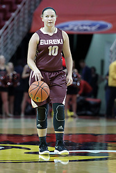 01 November 2017: Ashley Harfst during a Exhibition College Women's Basketball game between Illinois State University Redbirds the Red Devils of Eureka College at Redbird Arena in Normal Illinois.