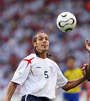 Photo: Chris Ratcliffe.<br /> England v Ecuador. 2nd Round, FIFA World Cup 2006. 25/06/2006.<br /> Rio Ferdinand of England.