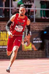 Penn Relays, USA vs the World, mens 4 x 200 meter relay, Wally Spearmon, USA