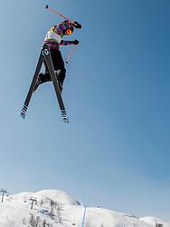 Skier during Europa Cup Slopestyle Vogel 2014, on March 16, 2014 at Vogel, Slovenia. Photo by Nika Zvokelj / Sportida.com