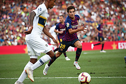 August 15, 2018 - Barcelona, Spain - Riqui Puig during the match between FC Barcelona and C.A. Boca Juniors, corresponding to the Joan Gamper trophy, played at the Camp Nou, on 15th August, 2018, in Barcelona, Spain. (Credit Image: © Joan Valls/NurPhoto via ZUMA Press)