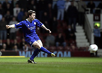David  Connolly scores.<br /> West Ham United v Leicester City. Coca-Cola Championship. Picture by Barry Bland 18/03/05