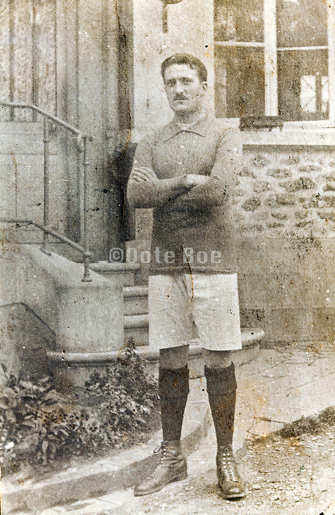 western male person posing in sport clothing outfit 1920s 1930s