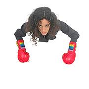 powerful Female MMA boxer