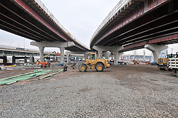 Pearl Harbor Memorial Bridge, New Haven Harbor Crossing Corridor. CT DOT Contract B1 Project No. 92-618 Progress Photography. Northbound West Approaches. Seventh on site photo capture of once every four month chronological documentation.