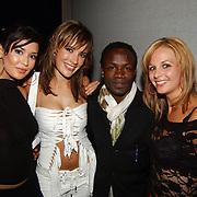 Playboy Night 2004, Lindsay Pronk, Tessa Brix, Regillio Tuur en Elise Boulogne