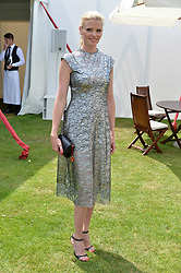 Lara Stone at Cartier Queen's Cup Polo, Guard's Polo Club, Berkshire, England. 18 June 2017.<br /> Photo by Dominic O'Neill/SilverHub 0203 174 1069 sales@silverhubmedia.com