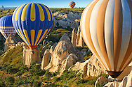 Hot Air Baloons over the Love Valley , Cappadocia Turkey .<br /> <br /> If you prefer to buy from our ALAMY PHOTO LIBRARY  Collection visit : https://www.alamy.com/portfolio/paul-williams-funkystock/cappadocia-balloons.html<br /> <br /> Visit our TURKEY PHOTO COLLECTIONS for more photos to download or buy as wall art prints https://funkystock.photoshelter.com/gallery-collection/3f-Pictures-of-Turkey-Turkey-Photos-Images-Fotos/C0000U.hJWkZxAbg