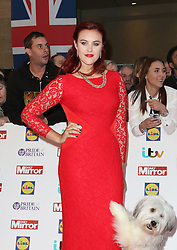 Ashleigh Butler, Pudsey, Pride of Britain Awards, Grosvenor House Hotel, London UK. 28 September, Photo by Richard Goldschmidt /LNP © London News Pictures