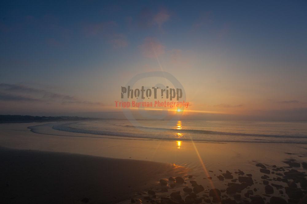 Today's  Summer sunrise at Narragansett Town Beach,  .  July  27, 2013.
