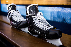 Skates during practice session of Team Slovenia at the 2017 IIHF Men's World Championship, on May 8, 2017 in Accorhotels Arena in Paris, France. Photo by Vid Ponikvar / Sportida
