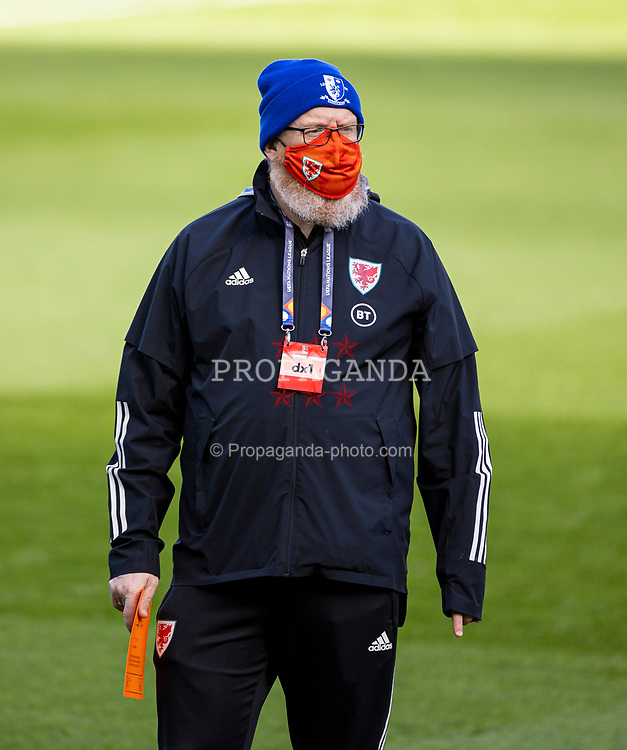 DUBLIN, REPUBLIC OF IRELAND - Sunday, October 11, 2020: Wales' head of international affairs Mark Evans before the UEFA Nations League Group Stage League B Group 4 match between Republic of Ireland and Wales at the Aviva Stadium. The game ended in a 0-0 draw. (Pic by David Rawcliffe/Propaganda)
