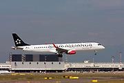 OE-LWA Austrian Airlines Embraer ERJ-195LR (Embraer 190-195) at Malpensa (MXP / LIMC), Milan, Italy