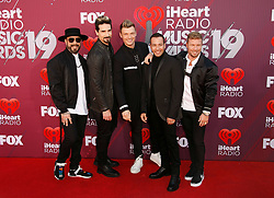2019 iHeartRadio Music Awards which broadcasted live on FOX at Microsoft Theater on March 14, 2019 in Los Angeles, California. Photo: imageSPACE/MediaPunch. 14 Mar 2019 Pictured: Backstreet Boys - AJ McLean, Kevin Richardson, Brian Littrell, N. Photo credit: imageSPACE / MEGA TheMegaAgency.com +1 888 505 6342