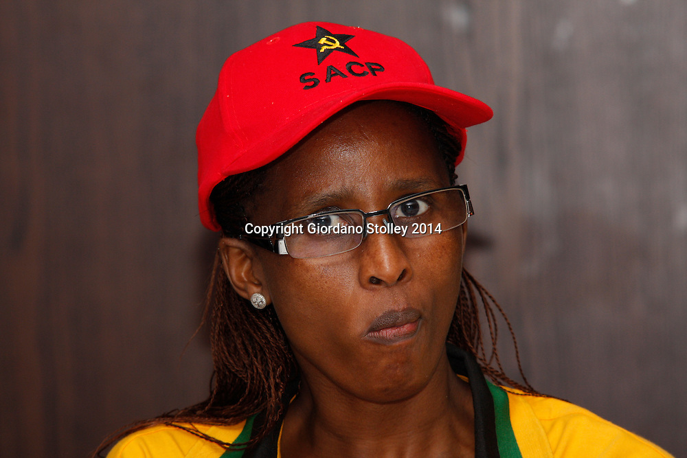 DURBAN - 2 February 2014 - Mina Lesoma, a member of parliament, attends a press conference where the SA Communist Party in KwaZulu-Natal launched its election campaign in support of the ruling African National Congress. Picture: Allied Picture Press/APP