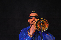 Pete Maurer plays the trombone at the Stone Pony in Asbury Park. / Photo by Russ DeSantis Photography and Video, LLC