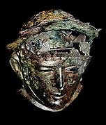 Ribchester Helmet. Worn by élite troopers during cavalry sports events. Roman Britain, late 1st-early 2nd century AD. Found in Ribchester, Lancashire.