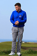 James Sugrue (Mallow) on the 1st tee during Round 4 of The West of Ireland Open Championship in Co. Sligo Golf Club, Rosses Point, Sligo on Sunday 7th April 2019.<br /> Picture:  Thos Caffrey / www.golffile.ie