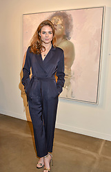 12 December 2019 - Rosie Tapner at a private view of Lethe by Henrik Uldalen at JD Malat Gallery. 30 Davies Street, London.<br /> <br /> Photo by Dominic O'Neill/Desmond O'Neill Features Ltd.  +44(0)1306 731608  www.donfeatures.com