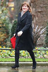 © Licensed to London News Pictures. 17/12/2019. London, UK. Secretary of State for Digital, Culture, Media and Sport Nicky Morgan arrives for the first meeting of the cabinet after the Conservatives won a majority in the 2019 General Election. Photo credit: Rob Pinney/LNP