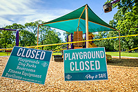 In compliance with the Stay at Home order issued by Governor John Bel Edwards BREC closed playgrounds, dog parks, pavilions and outdoor restrooms at their facilities including the playground at Goodwood Park.