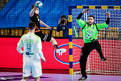 Klemen Ferlin of Slovenia  during Men's EHF EURO 2022 Qualifiers between national teams Slovenia and Netherlands in Arena Zlatorog, Celje, Slovenia on 10. January, 2021. Photo by Grega Valancic