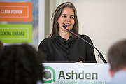 Niki Armacost of Arc Finance speaking at the 2015 Ashden International Conference. The Business of Energy: Enterprising Solutions to the Energy Access Challenge. Kings Cross, London, UK. All image use must be credited. © Andrew Aitchison / Ashden