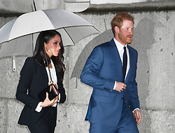 Prince Harry and Meghan Markle arrive to attend the annual Endeavour Fund Awards at Goldsmiths' Hall in London, to celebrate the achievements of wounded, injured and sick servicemen and women who have taken part in sporting and adventure challenges over the last year.