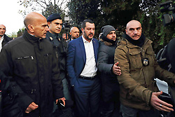Italy, Rome - November 20, 2018 .Anti Mafia police operation.600 policemen confiscated eight luxury villas illegally built in Rome by alleged mobsters clan Casamonica / Here Prime Minister Matteo Salvini (Credit Image: © Roma/Giacomino/Ropi via ZUMA Press)