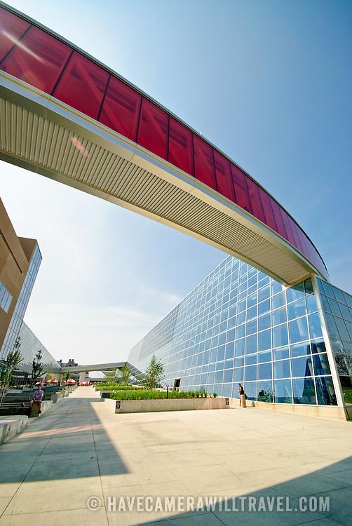 Modern gymnasium complex at the Ohio State University
