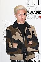 Lucky Blue Smith, ELLE Style Awards 2016, Millbank London UK, 23 February 2016, Photo by Richard Goldschmidt