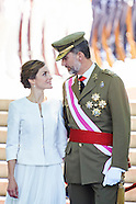 060615 Spanish Royals attend the Armed Forces day
